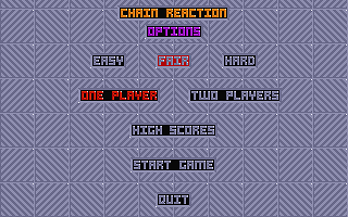 Chain Reaction atari screenshot